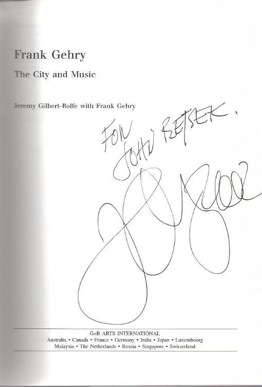 Image for *SIGNED* Frank Gehry: The City and the Music