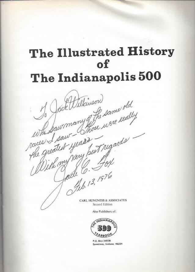 Image for *SIGNED* The Illustrated History of the Indianapolis 500