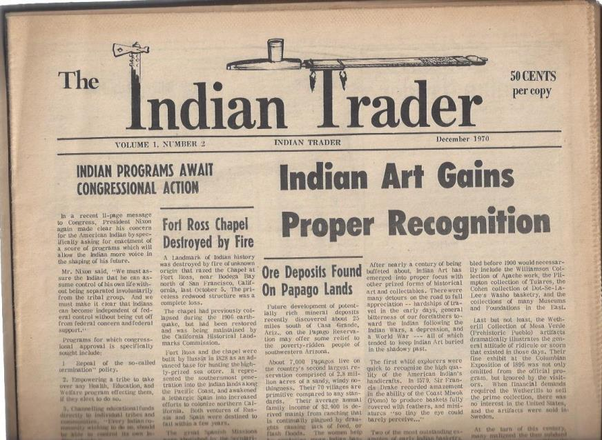 Image for The Indian Trader Newspaper, volume 1, number 2 (December 1970)