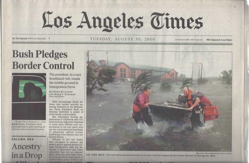 Image for Collection of 13 Newspapers Covering Hurricane Katrina in 2005