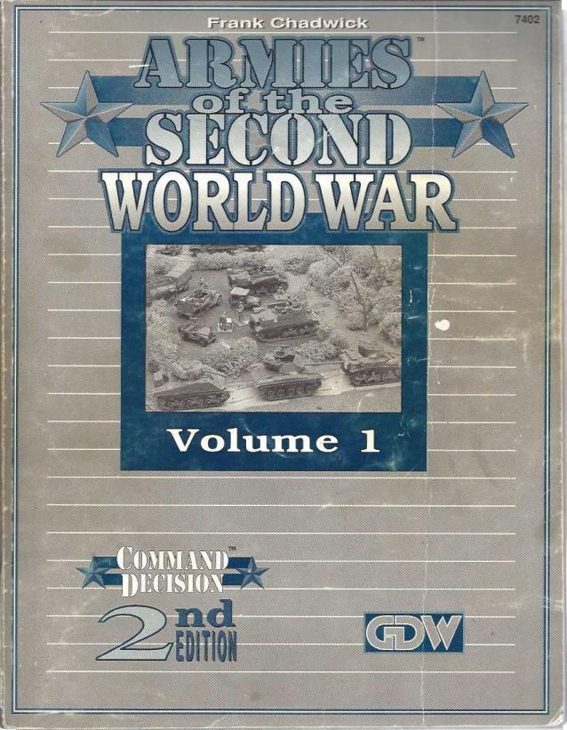 Image for Armies of the Second World War, Vol 1 (Command Decision, 2nd Ed.)