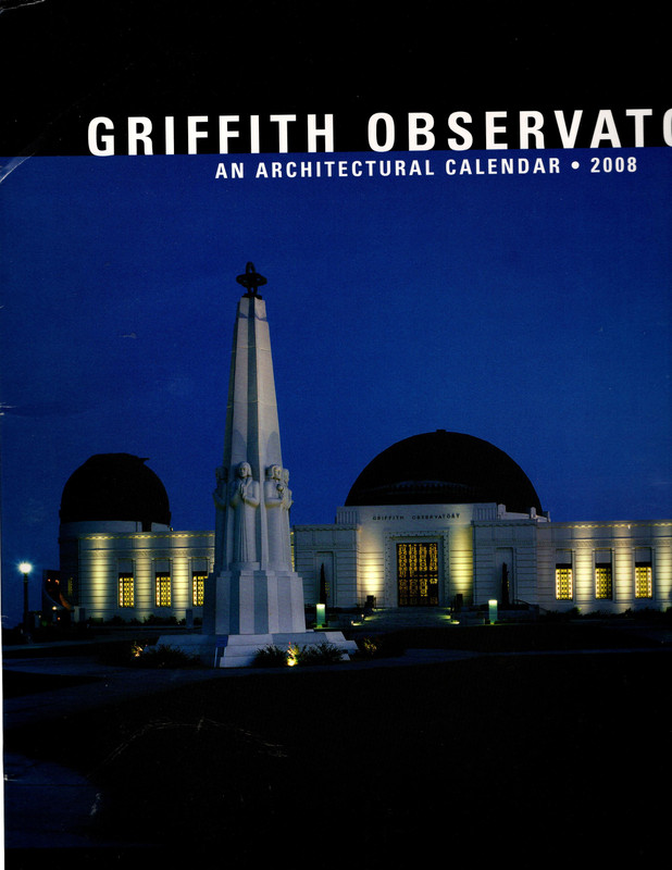 Image for *Signed* Griffith Observatory: An Architectural Calendar 2008