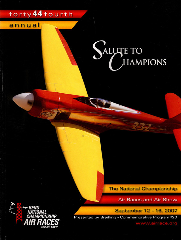 "Image for The 44th Annual National Championship Air Races and Air Show-September 12-16, 2007-Reno, Nevada-""Salute to Champions"""